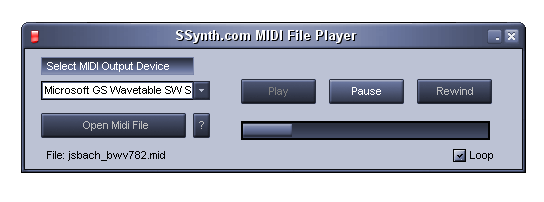 SSynth.com MIDI File Player